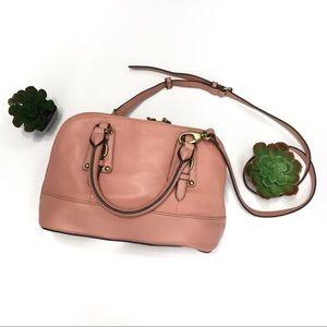 Tignanello Genuine Leather Pink Satchel Handbag